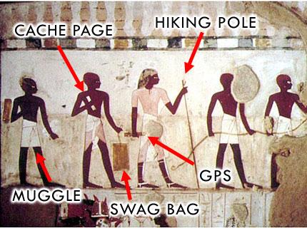 Geocaching Meme - Geocaching in de Egyptische oudheid
