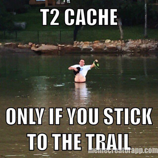 Geocaching Meme neem de juiste route