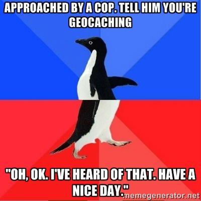 Geocaching Meme politie
