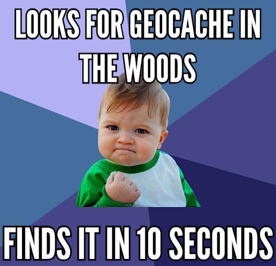 Geocaching Meme snelle vondst