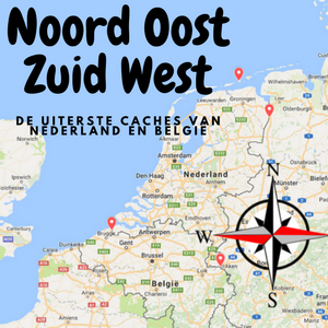 Noord Oost Zuid West: uiterste caches van Nederland