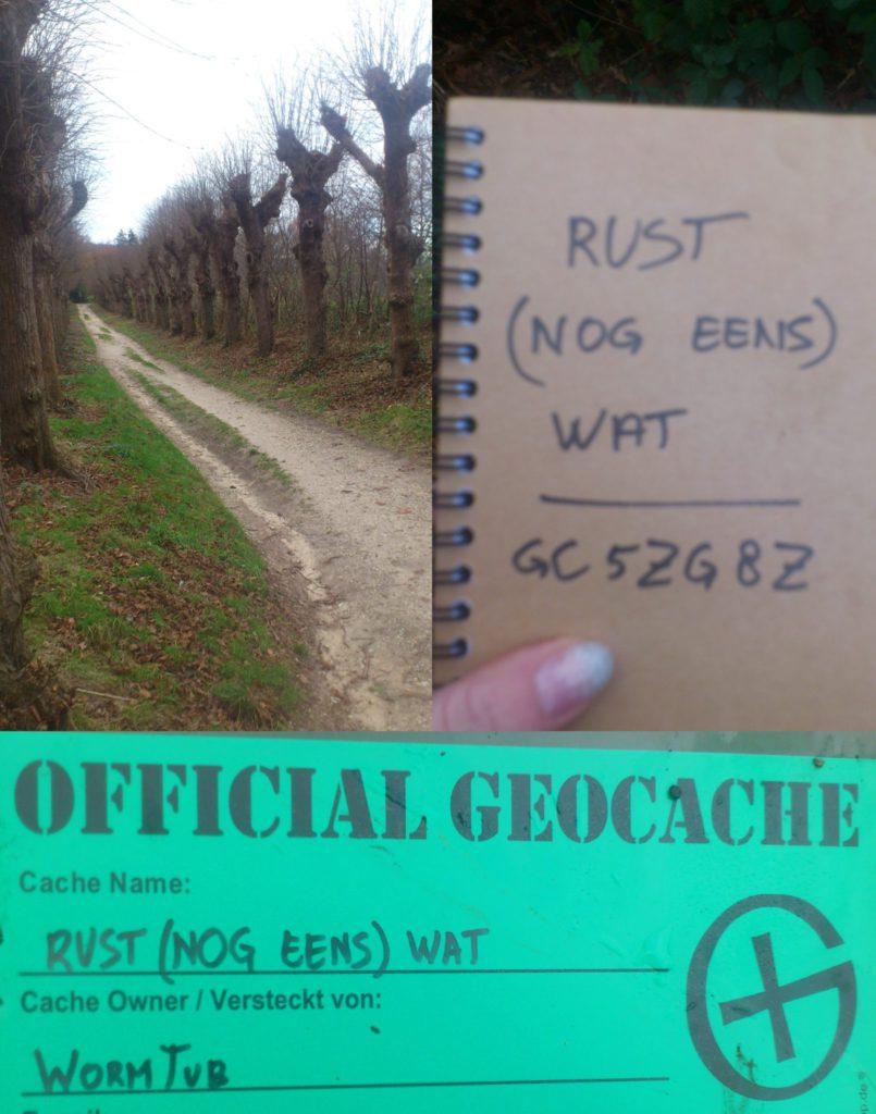 Geocaching Nijmegen - rust nog eens wat