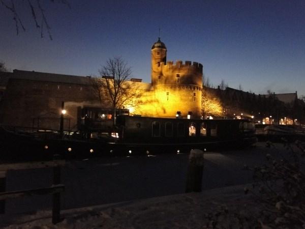 Geocaching Zwolle bij nacht