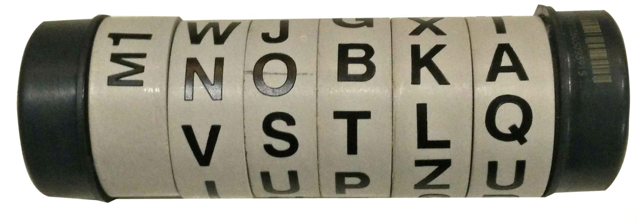 Cryptex maken - letters aanbrengen