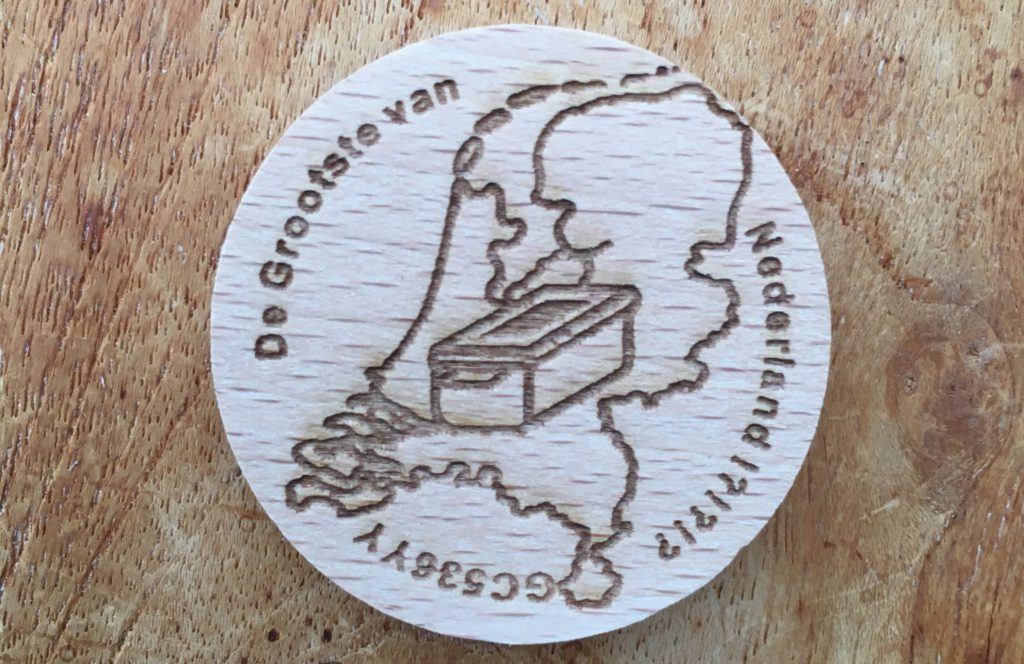 Wooden coin - Grootste van Nederland