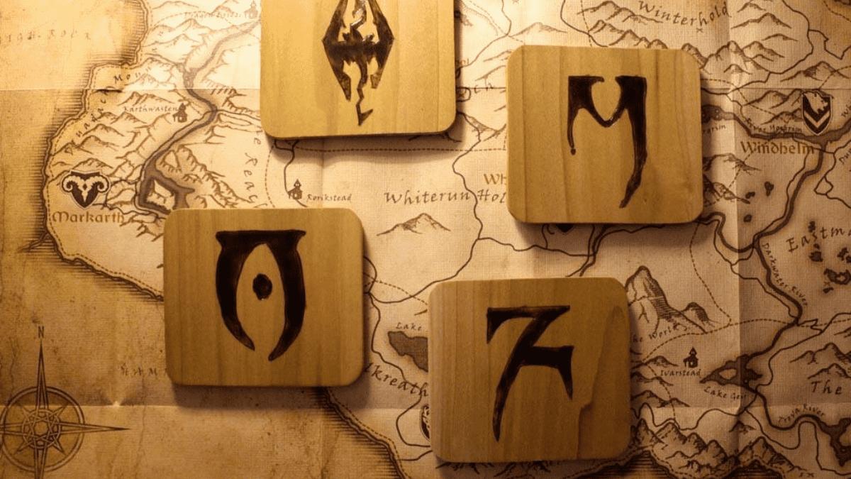 Daedric alfabet tekens