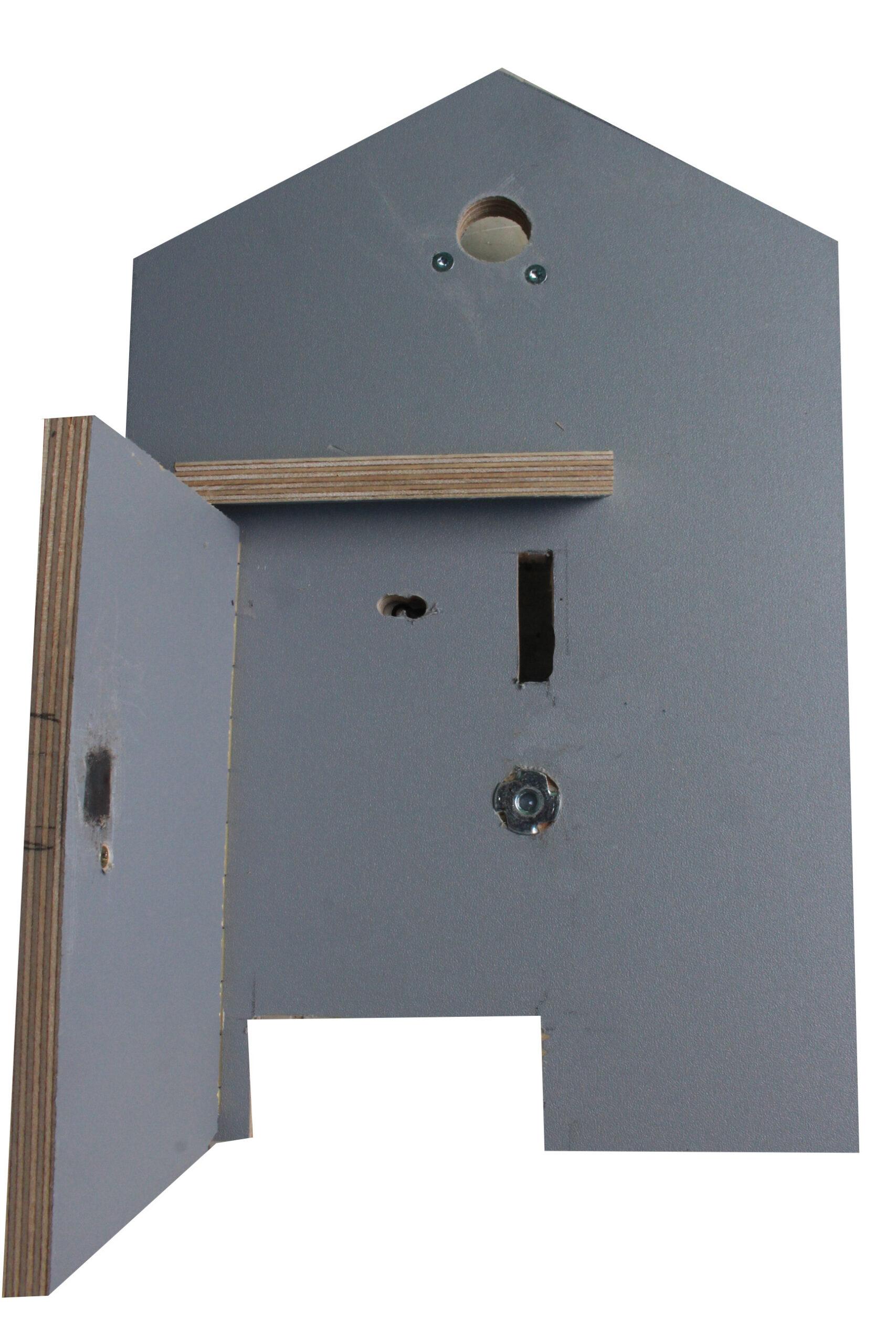 Woodie ruilkast - front met deur